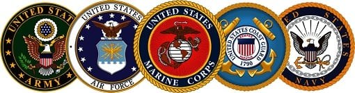 U.S. Armed Forces are made up of the six military branches: Air Force, Army, Coast Guard, Marine Corps, Navy and, most recently, Space Force.