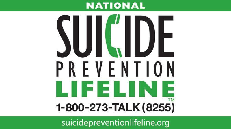 RESIZED Suicide Lifeline graphic